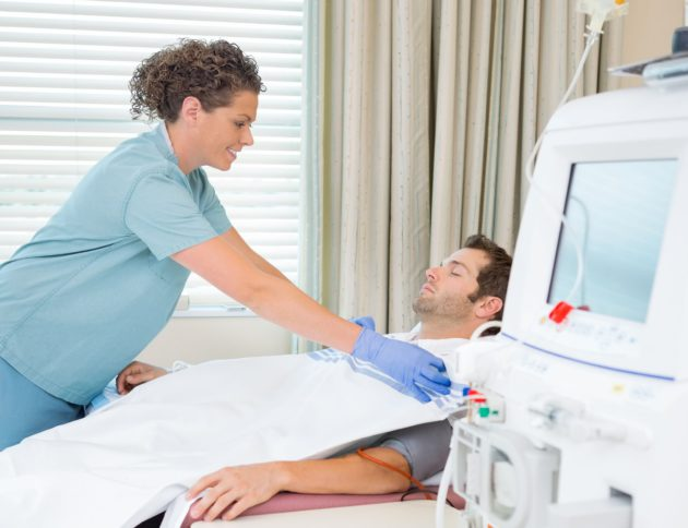 dialysis nurse covering patient with blanket, dialysis nurses duties