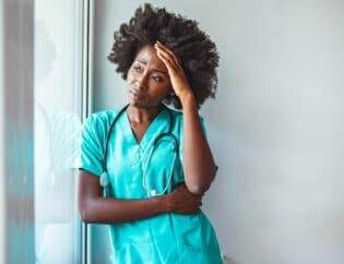 dialysis nurse upset and experiencing compassion fatigue